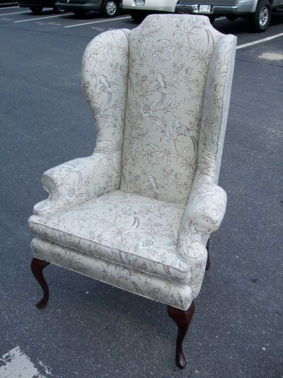 queen anne wing chair office you can sleep in high back at 1stdibs