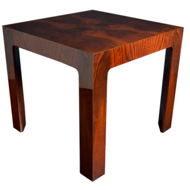 High Lacquer and Wood Veneer Card Table at 1stdibs