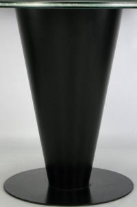 Black Lacquered Metal Cone Pedestal Table With Crackle ...