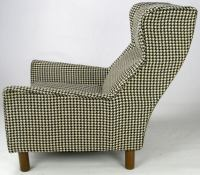 Selig Club Chair In Original Black and White Houndstooth ...