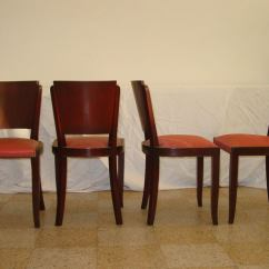 Small Scale Upholstered Dining Chairs Silver Chair Covers Uk Set Of Four French Art Deco Side At 1stdibs
