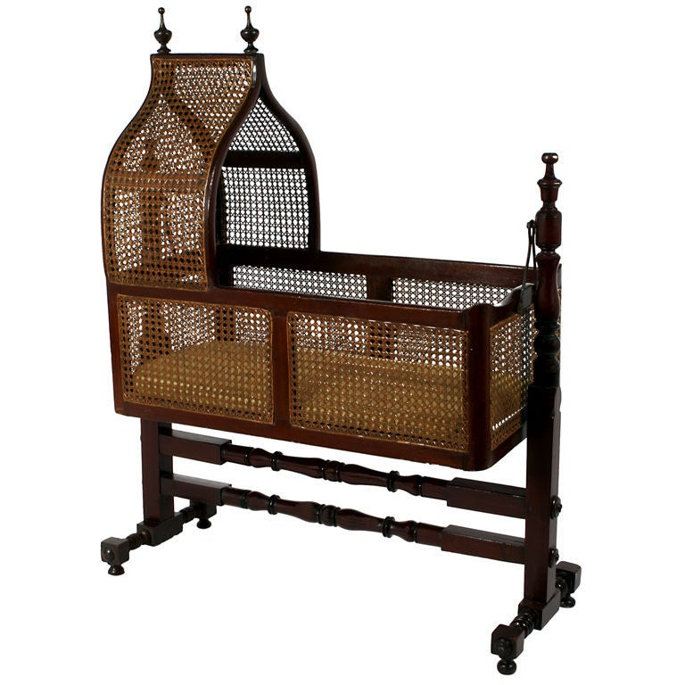 A Victorian Caned Hanging Cradle or Bassinet at 1stdibs
