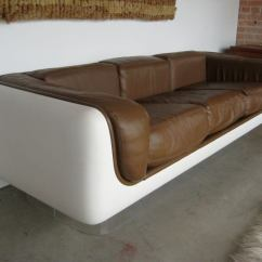 Steelcase Sofa Platner Couch Designs India Designed By Warren For At 1stdibs Fiberglass With Lucite Base And Original Leather Pair