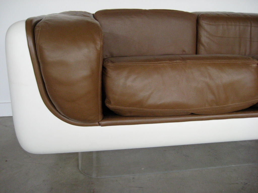 steelcase sofa platner grey leather chesterfield uk designed by warren for at 1stdibs