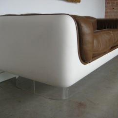 Steelcase Sofa Platner Ashton Black Bonded Leather Designed By Warren For At 1stdibs
