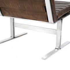 Steel Lounge Chair Dining Room Seat Covers Grey Stainless And Leather Chairs At 1stdibs