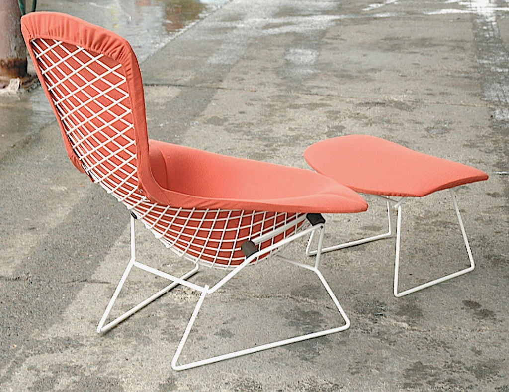 bertoia style chair target outdoor dining chairs vintage bird and ottoman by harry at 1stdibs