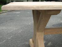 Natural oak dining table at 1stdibs
