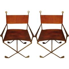 Art Deco Style Club Chairs Large Chair Covers A Pair Of Exceedingly Unusual Constructed Golf Clubs For Sale At 1stdibs