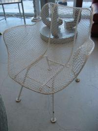 Set of Six Woodard Mid Century Modern Patio Chairs at 1stdibs
