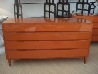 Pair of Oversized Orange Chest of Drawers. at 1stdibs