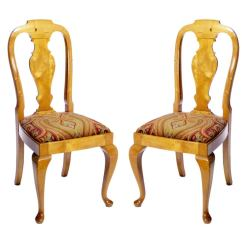 Queen Anne Style Chairs Toddler Desk Chair Pair Of For Sale At 1stdibs