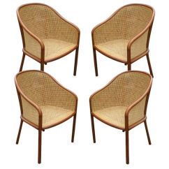 Where Can I Buy Cane For Chairs How To Adjust Aeron Chair Set Of Four Ward Bennett At 1stdibs Sale