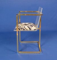 Metal Frame Acrylic Arm Chair by Spancraft NY at 1stdibs