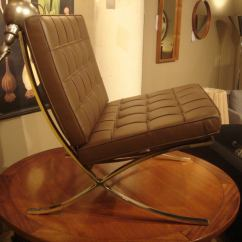 Barcelona Chair Used Armless Slipcovers Pair Of Vintage Knoll Chairs In New Brown