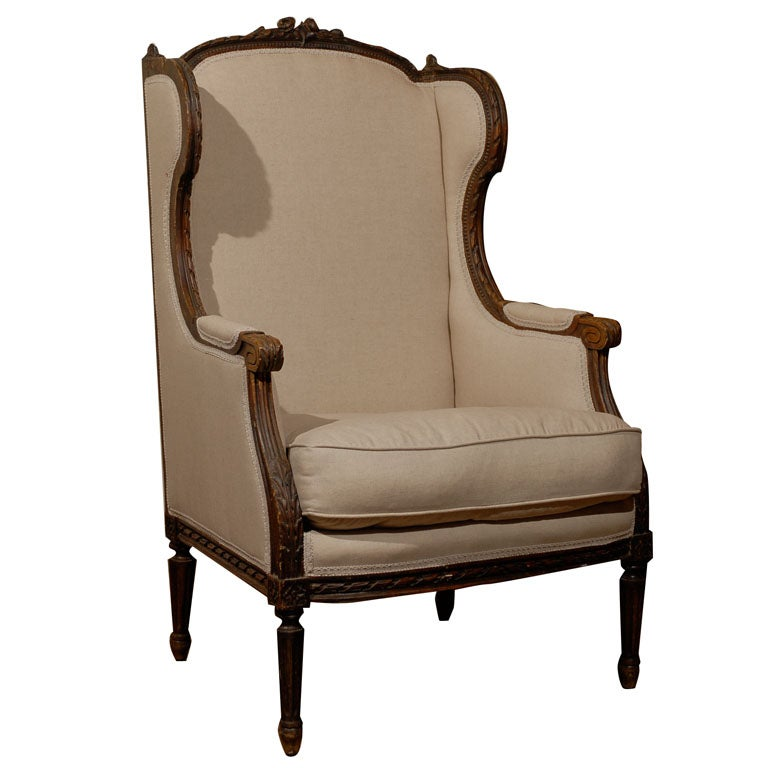 French Bergere Chair at 1stdibs