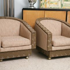 The Revolving Chair Miami Yoga Ball Office Pair Of Romweber Limed Oak Club Chairs For Sale