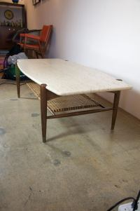DUX travertine coffee table at 1stdibs