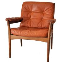 Swedish Leather Arm Chair at 1stdibs