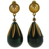 Exotic Carnegie Egyptian style Earrings at 1stdibs