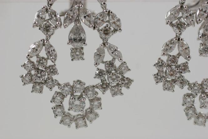 Fancy Cut Diamond Chandelier Earrings 3