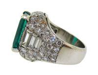 Gorgeous Colombian Emerald, Diamond and Platinum Vintage ...