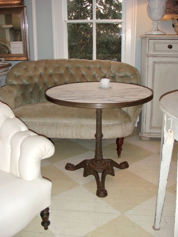 Marble Top American Ice Cream Table At 1stdibs