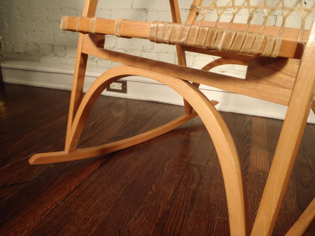 horseshoe rocking chair best small gaming oak and rawhide snow shoe for sale at 1stdibs
