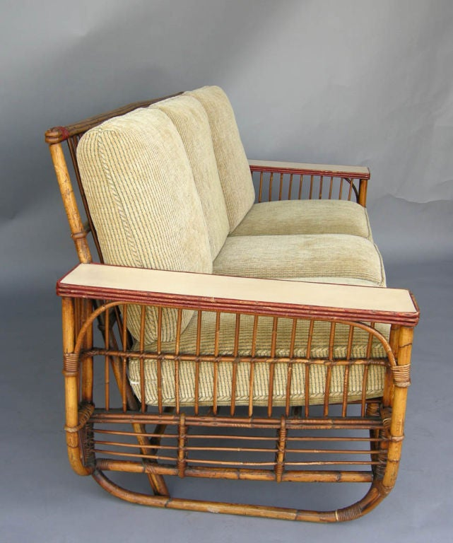 ficks reed chair outdoor fire pit ideas 1930's art deco bamboo sofa and chairs lounge set at 1stdibs