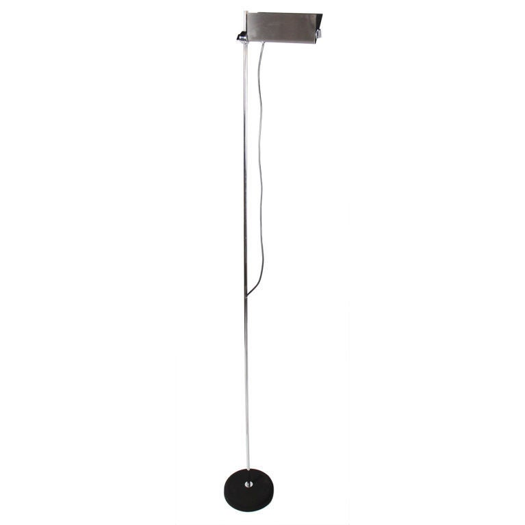 Tall Adjustable Halogen Torchiere by Arredoluce For Sale