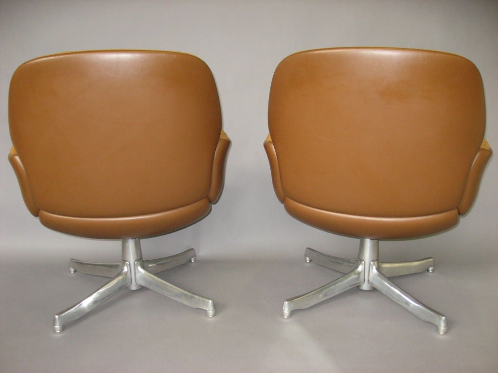 steelcase sofa platner recliner sectional microfiber pair of chairs labled warren circa 1965