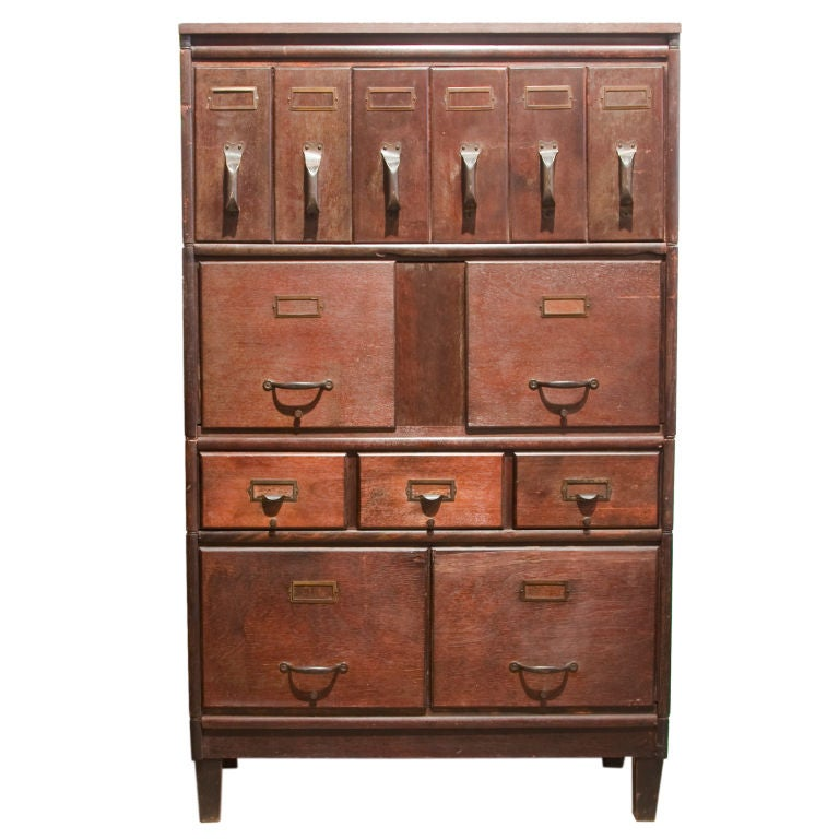 Modular Filing Cabinet 1920s At 1stdibs