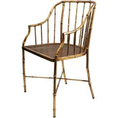 Antique Dining Chair Leg Styles Football Kids Italian Gold Leafed Metal With A Bamboo Motif At 1stdibs