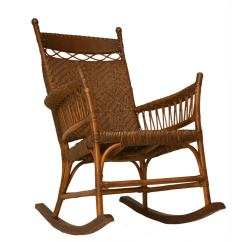 1920s Rocking Chair Cheap Desk C 1920 American Hickory Oak And Rattan At