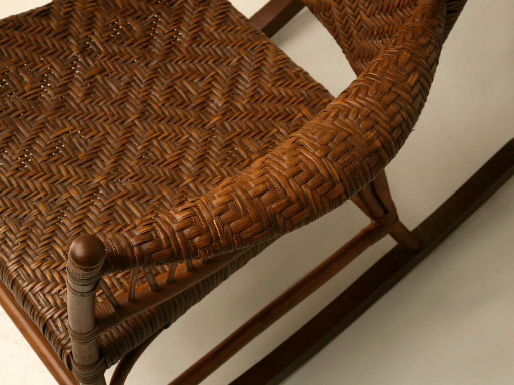 1920s rocking chair office chairs with headrest c 1920 american hickory oak and rattan at