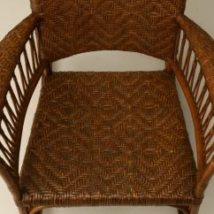 1920s Rocking Chair Office Quotes C 1920 American Hickory Oak And Rattan At