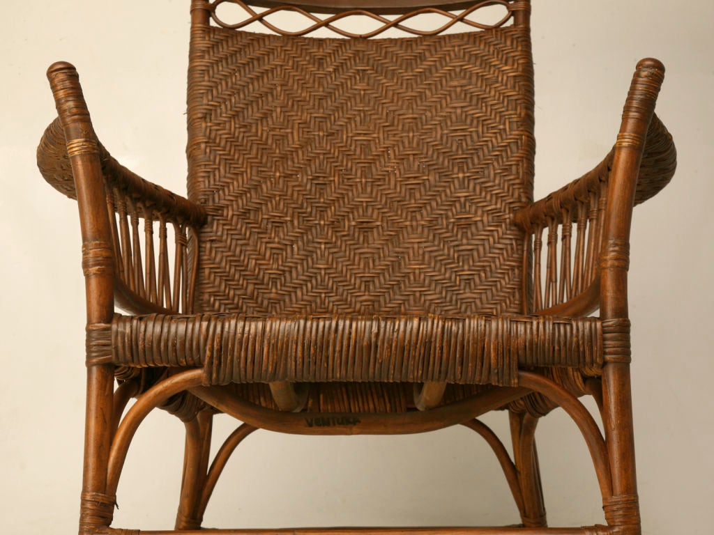 1920s rocking chair outdoor metal folding chairs c 1920 american hickory oak and rattan at
