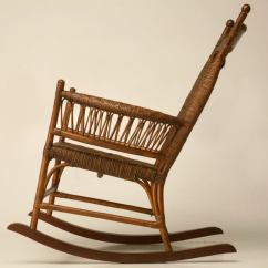 1920s Rocking Chair Kneeling Canada C 1920 American Hickory Oak And Rattan At