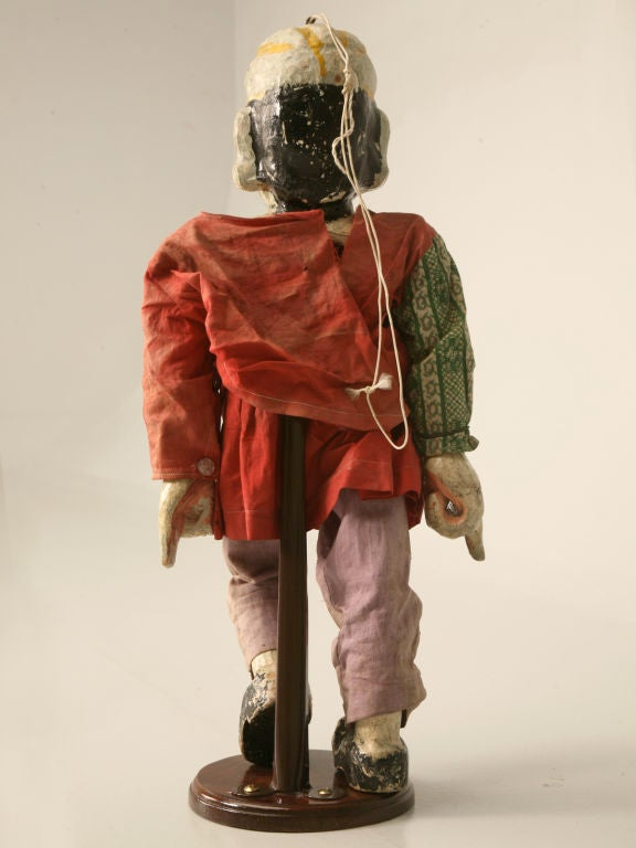 C1910 Antique English Wooden Merchant Doll For Sale At