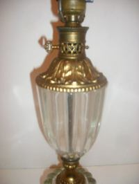 Molded Glass Table Lamp at 1stdibs