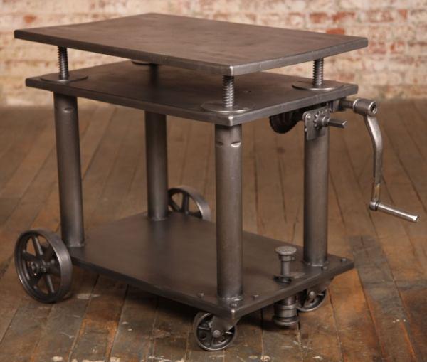 Vintage Industrial Metal Cart
