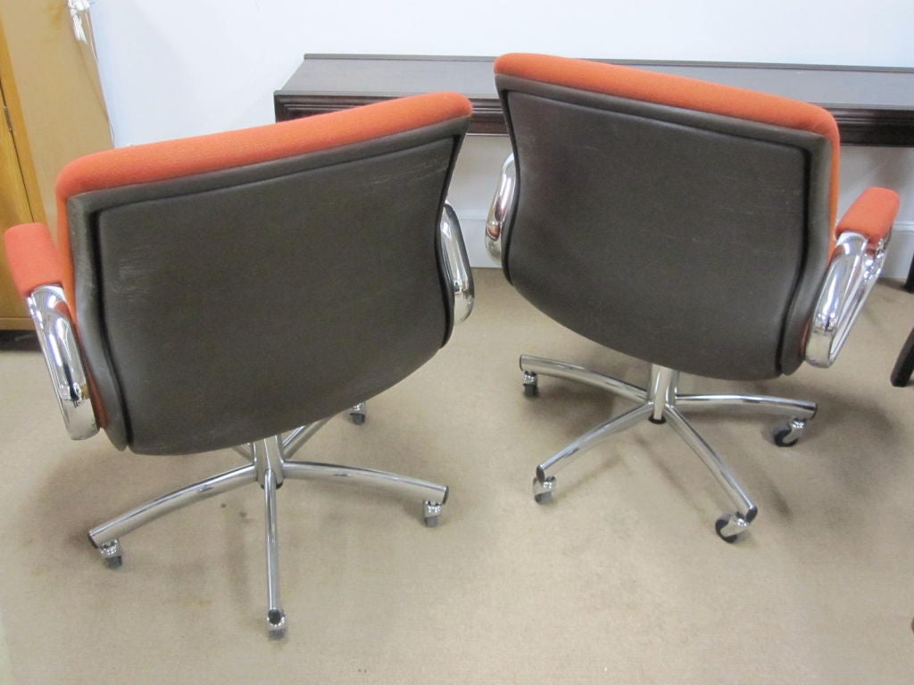 steelcase vintage chair mid century table and chairs swivel desk two available at 1stdibs