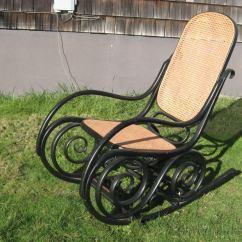 Oversized Aluminum Rocking Chair Navy Blue Velvet Armchair Uk 19thc Bentwood By J Kohn Thonet