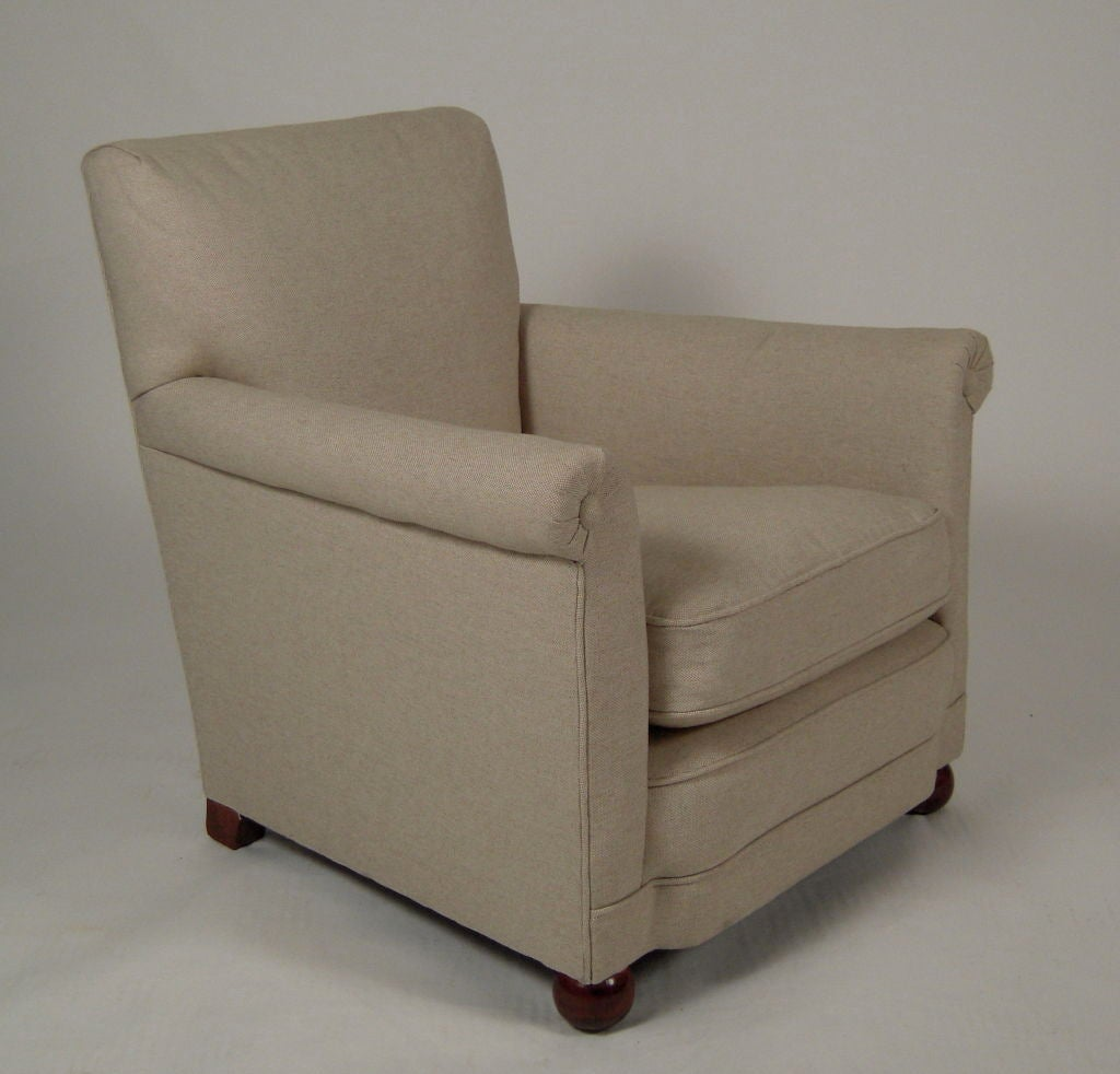 1940s CHILD SIZE UPHOLSTERED CLUB CHAIR at 1stdibs