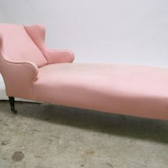 Pink Chaise Lounge Chair Target Armless Chairs Longue At 1stdibs