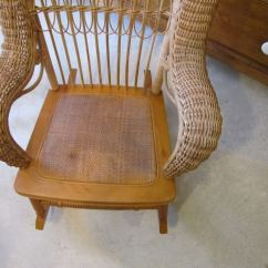 Childs Rattan Chair Beach Chairs With Shade Child 39s Wicker Rocker At 1stdibs
