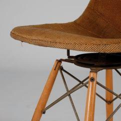 Seng Chicago Chair Microfiber Dining Eames Swivel Dowel Legged Chair; Dkw-1 At 1stdibs