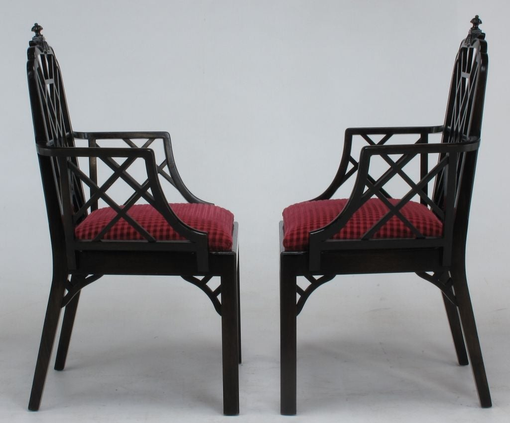 chinese chippendale chairs chair rail design set of eight mahogany dining at