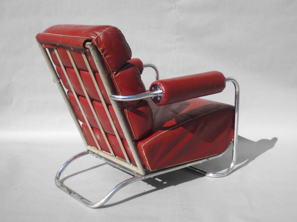 leather chrome chair hanging pod zara machine age and lounge by rohde for