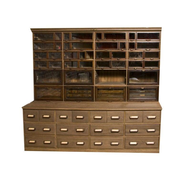 Large Warren Vintage Hardware Store Cabinet At 1stdibs